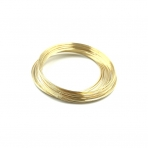 0,65mm storio 50mm skersmens aukso sp. vielutė su atmintimi aptrankėms, 30 žiedų