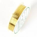 0,6mm aukso sp. bižuterinė vielutė, iki 5m