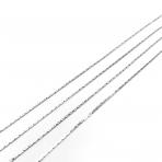 0,7x0,7mm sidabro sp. grandinėlė, 1m