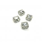 10mm crystal sp. kristalai sidabro sp. rėmeliuose, 4vnt