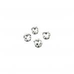 10mm crystal sp.apvalūs kristalai sidabro sp. rėmeliuose, 6vnt.