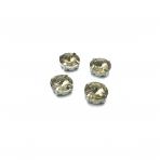 12mm dūminės sp. apvalūs kristalai sidabro sp. rėmeliuose, 6vnt.
