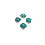 10mm Emerald sp. kristalai sidabro sp. rėmeliuose, 4vnt