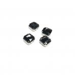 10mm juodos sp. kristalai sidabro sp. rėmeliuose, 4vnt