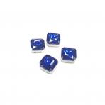 10mm mėlynos sp. kristalai sidabro sp. rėmeliuose, 4vnt