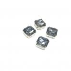 10mm pilkos sp. kristalai sidabro sp. rėmeliuose, 4vnt