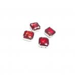 10mm raudonos sp. kristalai sidabro sp. rėmeliuose, 4vnt