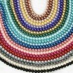 10mm stiklinių perlų 10 juostų mix, blizgūs