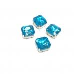 10mm žydros sp. kristalai sidabro sp. rėmeliuose, 4vnt