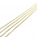 2x2mm aukso sp. grandinėlė, 1m