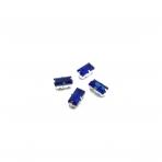 10x5mm mėlyna sp. kristalai sidabro sp. rėmeliuose, 4vnt.