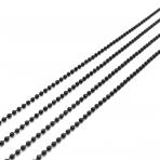 1,5x1,5mm juodos sp. grandinėlė, 1m