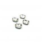 14x10mm crystal sp. kristalai sidabro sp. rėmeliuose, 4vnt.