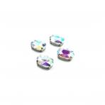 14x10mm švelnios gelsvos AB sp. kristalai sidabro sp. rėmeliuose, 4vnt.