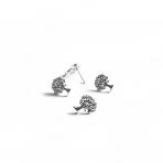 11x10mm sidabro sp. auskarų įvėrimai, 4vnt.