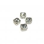 12mm crystal sp. kristalai sidabro sp. rėmeliuose, 4vnt