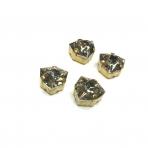 12mm dūminės sp. kristalai aukso sp. rėmeliuose, 4vnt