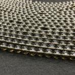 6mm Dūminis kvarcas, sintetinis, 40cm juosta