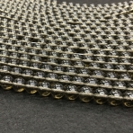 10mm Dūminis kvarcas, sintetinis, 40cm juosta