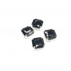 12mm juodos sp. kristalai sidabro sp. rėmeliuose, 4vnt