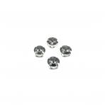 10mm pilkos sp. apvalūs kristalai sidabro sp. rėmeliuose, 6vnt.