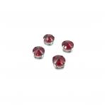 10mm raudonos sp. apvalūs kristalai sidabro sp. rėmeliuose, 6vnt.