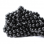 12mm juodi blizgūs oniksai, sintetiniai, 40cm juosta