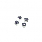 10mm violetinės sp.apvalūs kristalai sidabro sp. rėmeliuose, 6vnt.