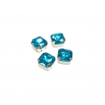 12mm žydros sp. kristalai sidabro sp. rėmeliuose, 4vnt