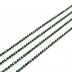 1,2x1,2mm žalios sp. grandinėlė, 1m.
