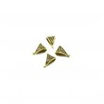 11x15mm aukso sp. pakabukų laikikliai, 18vnt.