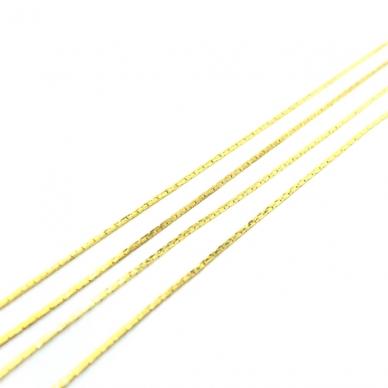 0,6x0,6mm aukso sp. grandinėlė, 1m