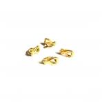 13x16mm aukso sp.auskarų įvėrimai klipsai, 8vnt.
