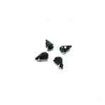 13x8mm juodos sp. kristalai sidabro sp. rėmeliuose, 6vnt.