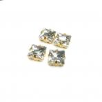 14mm crystal sp. kristalai aukso sp. rėmeliuose, 4vnt