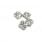 14mm crystal sp. kristalai sidabro sp. rėmeliuose, 4vnt