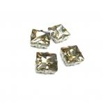14mm dūminės sp. kristalai sidabro sp. rėmeliuose, 4vnt