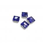 14mm mėlynos sp. kristalai sidabro sp. rėmeliuose, 4vnt