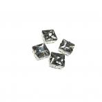 14mm pilkos sp. kristalai sidabro sp. rėmeliuose, 4vnt