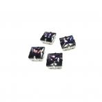 14mm violetinės sp. kristalai sidabro sp. rėmeliuose, 4vnt