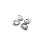 18x13mm crystal AB sp. kristalai sidabro sp. rėmeliuose, 4vnt.