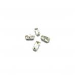 10x5mm crystal sp. kristalai sidabro sp. rėmeliuose, 4vnt.
