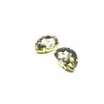 25x18mm dūminės sp. kristalai aukso sp. rėmeliuose, 2vnt.