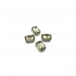 14x10mm dūminės sp. kristalai sidabro sp. rėmeliuose, 4vnt.