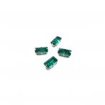 10x5mm Emerald sp. kristalai sidabro sp. rėmeliuose, 4vnt.
