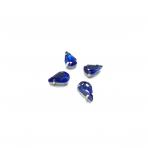 13x8mm mėlyna sp. kristalai sidabro sp. rėmeliuose, 6vnt.
