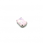 18x13mm mėnulio rožinės sp. kristalai sidabro sp. rėmeliuose, 1vnt.