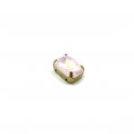 14x10mm mėnulio rožinės sp. kristalai aukso sp. rėmeliuose, 1vnt.