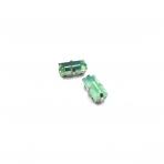10x5mm mėnulio žalios sp. kristalai sidabro sp. rėmeliuose, 2vnt.