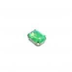 18x13mm mėnulio žalios sp. kristalai sidabro sp. rėmeliuose, 1vnt.